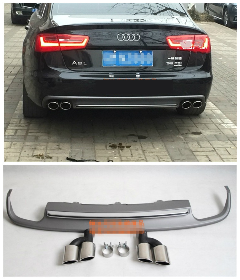 Car Rear Lip Spoiler For Audi A6 C7 2012.2013.2014.2015.2016.2017 High Quality Bumper Di ...