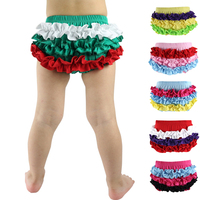 Top Fashion Rushed Patchwork Newborn Christmas Holiday Cotton Panties Ruffles Bloomers Diaper Covers Nb-24m 10 Designs Bloomers