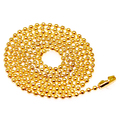 2.4mm golden Dog Tag Chains Ball Bead Chain Ball Chains Necklaces Keychains,wholesale chains for jewelry supplies