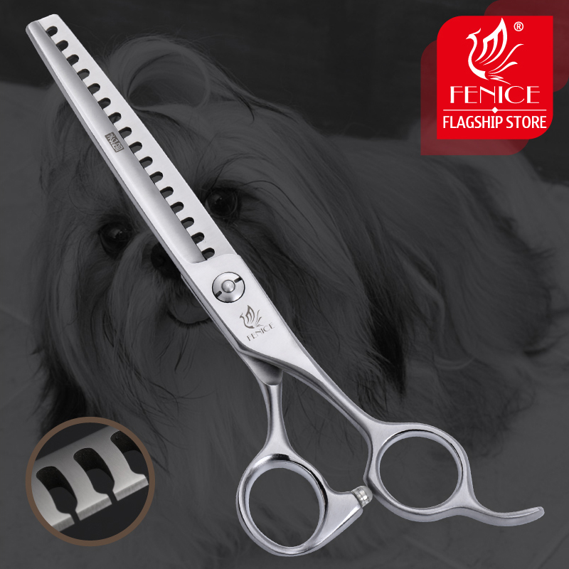 Fenice 6.75 inch Pet Dogs Gromming Scissors Thinning Shears Sharp Edge Animals Cat Hair Cutting Barber Cutting Tools Rate 85%Fenice 6.75 inch Pet Dogs Gromming Scissors Thinning Shears Sharp Edge Animals Cat Hair Cutting Barber Cutting Tools Rate 85%