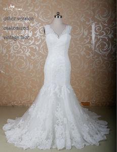 Image 2 - RSW771 Elegant Fitted Lace Sexy Mermaid Wedding Dresses Mermaid Cut