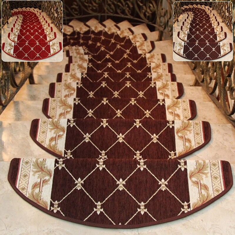 1*Carpet European Palace Style Non-slip Stair Tread Carpet Mat Step Rug Home Decoration 24*64cm Floor Decor