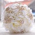 Букет де mariage великолепный кристалл жемчуг искусственные свадебные букеты белый искусственные розы свадебные цветы свадебные букеты
