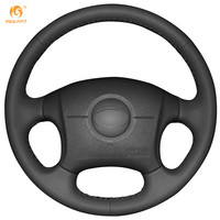 Black Leather Car Steering Wheel Cover For 2004 2011 Hyundai Elantra Old Elantra
