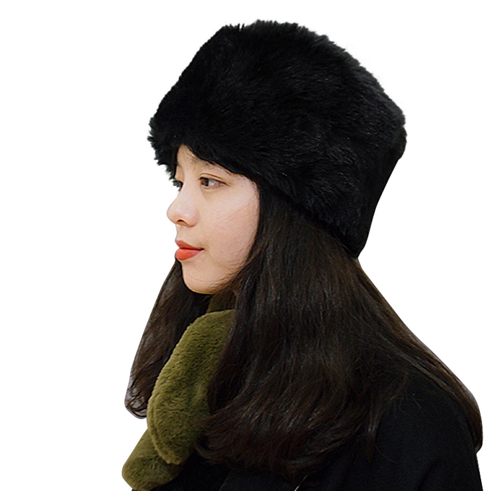 desire #50  2018 creative new style Decoration Explosion Fashion Women Winter Hat Keep Warm Faux Fur Headgear Snow Hat Cap