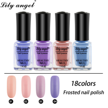 купить Lily angel High Quality Matt Nail Polish 7ml Frosted Odorless Quick Drying Gel Polish UV Nail Art Design Water Soluble Polish в интернет-магазине