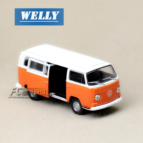 Freeshipping Wyly welly volkswagen boxed t2 bus 1970 alloy car models toy