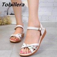 Tobillera 2017 Summer 3 Colors Women Casual Flat Sandals Fashion Cross Front Genuine Leather High Quality