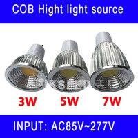 Led Spot Light 3W 5W 7W GU10 COB Spotlight Bulb E26 Lamp High Power White Warm