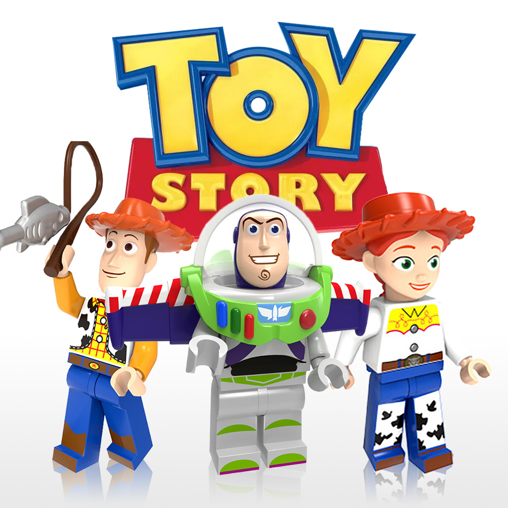 Toy Story 4 Kids Figures Woody Buzz Lightyear Darth Vader Zurg Building Blocks Ninja Baby Toys Duplo Playmobil Toys Gift