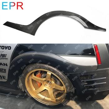 For Nissan GTR R35 TS Style Carbon Fiber Rear Fender Flares Body Kit Car Tuning Part For R35 GTR