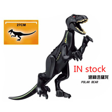 L030 Jurassic World Park 2 Fallen Kingdom Carnotaurus & Interbreed Velociraptor Dinosaur Dragon Building Blocks Children Toys
