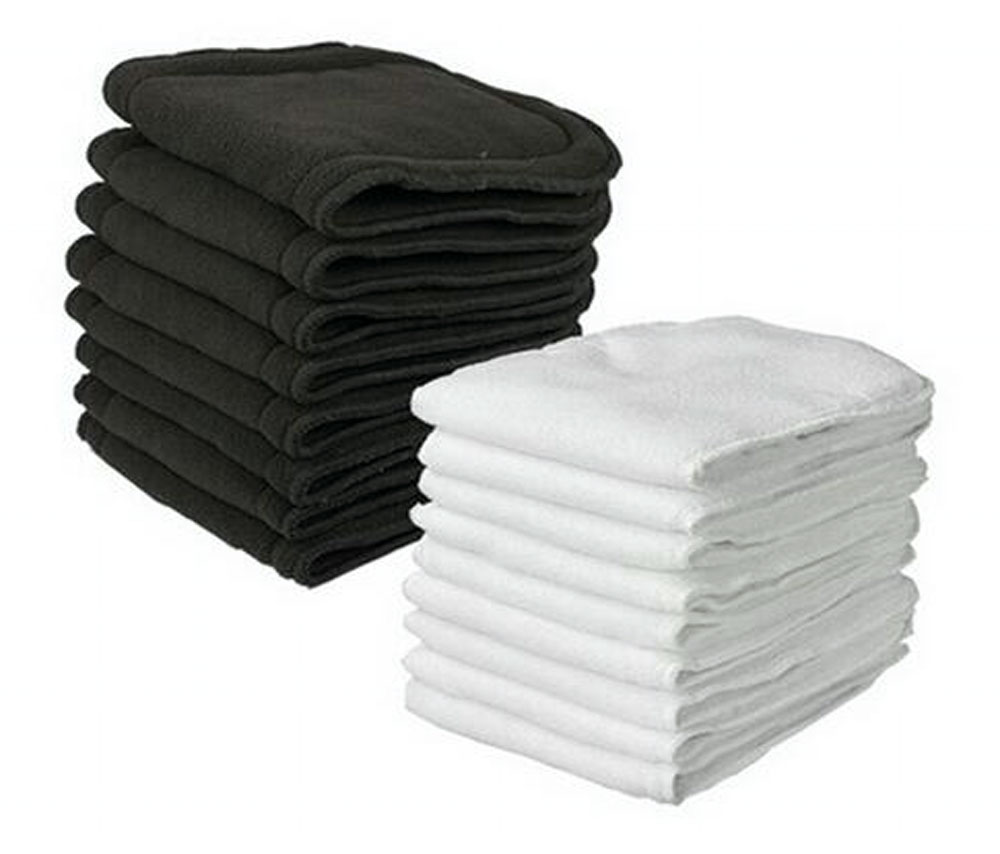 ONSALE [BABYLAND]  5pcs Bamboo Charcoal Inserts + 5pcs Microfiber Liners Normal Pocket Cloth Diaper Inserts  Free Shipping