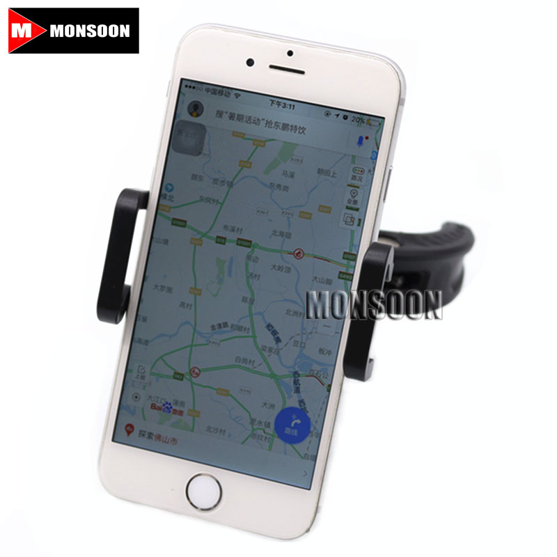 Free Shipping Universal Motorcycle Mountain Bike GPS Navigation Frame Mobile Phone Mount Bracket universal bike bicycle motorcycle helmet mount accessories