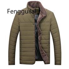 Повседневная мужская куртка 2019 зима теплая мужская сплошной цвет хлопок смесь мужская марка куртки