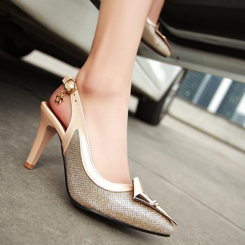 High Heels Ladies Pumps High Heel Shoes Women Stiletto Woman Party Wedding Shoes Kitten Heels scarpin Plus Size 34 - 40 41 42 43