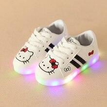 Høj kvalitet varm 2018 vinter baby piger drenge glødende sneakers varmt salg LED tændt Dejlig baby afslappet sko Patch småbørn