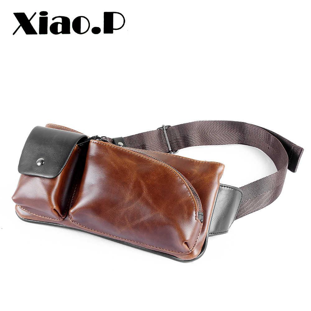 2020d98076e2 Новая модная Стильная мужская сумка из искусственной кожи Crazy Horse,  Повседневная маленькая сумка через плечо