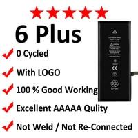 2pcs Lot AAAAA Original Quality 0 Zero Cycle Battery For IPhone 6 Plus 6P 2915mAh 3