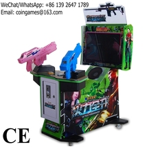 Amusement Equipment Aliens Coin Operated Simulator Gun Shooting Game Machines For Kids