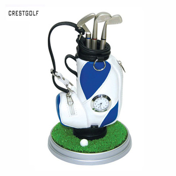a69e8383548 Best Price CRESTGOLF Creative Perfact Golf Present Golf Pen Holder Golf Bag  Three Ballpoints and clock 7 Colors Available