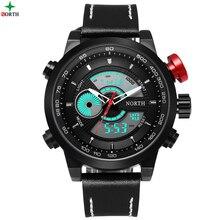 Hombres Reloj Deportivo Multifunción Militar Hombres Reloj 2016 De La Moda de Regalo Digital de Pulsera Analógico 30 M Impermeable de Los Hombres Reloj Deportivo
