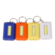 Mini Portable Keychain Key Ring LED Flashlight COB LED Single Mode Mini Pocket Torch Lamp Light Key Chain LED Linternas AAA