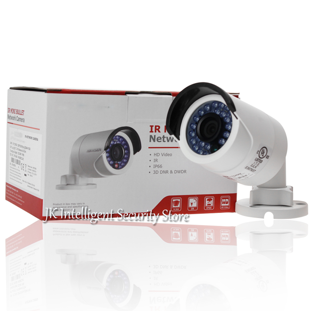Hikvision DS-2CD2042WD-I 4MP Bullet outdoor IR Camera English Version IP housing POE home security Onvif H265 surveillance IPC