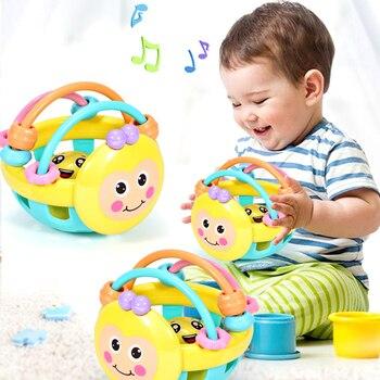 Bebé de juguete sonajero pelota mano llamando bola sonajero juguete desarrollar bebé inteligencia bebé Grasping juguete, campana de mano Juguetes
