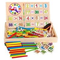 어린이 나무 수학 스티커 장난감 아이 교육 번호 수학 계산하는 게임 장난감 조기 학습 계산 소재