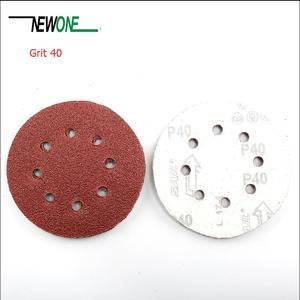 """Image 3 - NEWONE 100pcs/set 125mm 5 """"/5 zoll Schleifen Discs 8 Löcher Schleifpapier Pads Set 40#60#80# 100 #120 #150 #180 #240 #320 #400 und mehr größen"""
