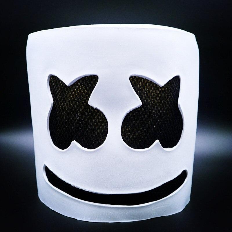 DJ marshmello Full Face latex dj masks Headgear cosplay Halloween mask marshmello Costumes Carnaval for marshmello dj Party