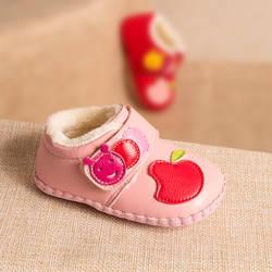 Phynier зима девочка прогулок мультфильм обувь мягкое дно шаг обувь От 0 до 1 года детская обувь