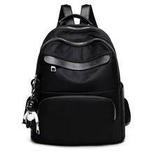2018 Fashion Women Backpack for School Teenagers Girls Stylish School Bag Oxford cloth Mini Leather Female Solid Color Bookbag