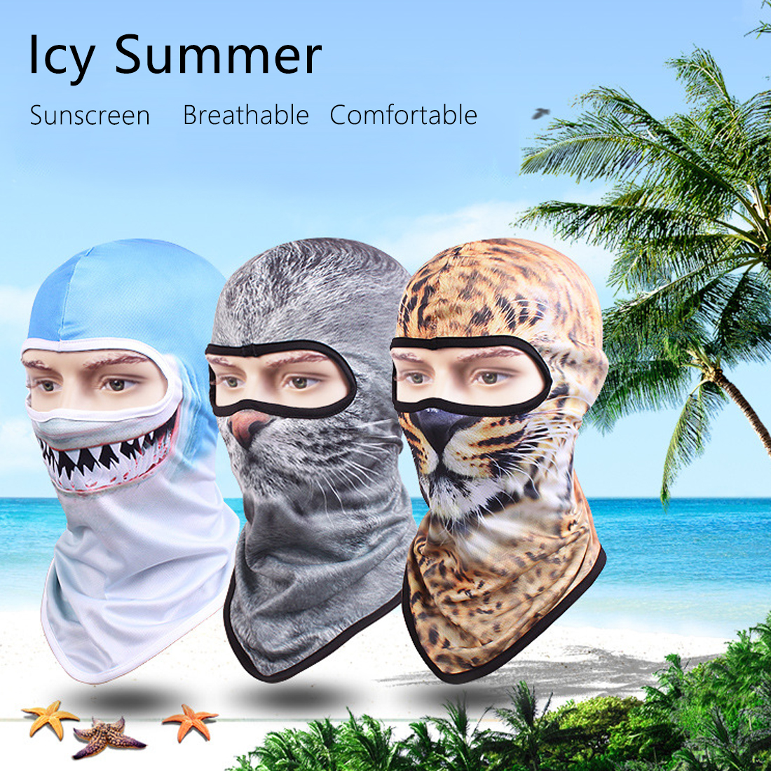Girl's Accessories Motivated Quick Dry Breathable Mask Hat Men Women Personality Outdoor Riding Sunscreen Full Face Cartoon Mask 3d Animal Skull Hats Cheap Sales Girl's Hats
