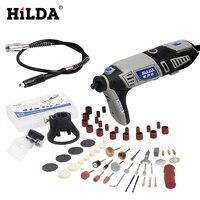 HILDA 180W EU Plug Electric Drill Dremel Style With Flexible Shaft 92pcs Accessories Set Electric Rotary