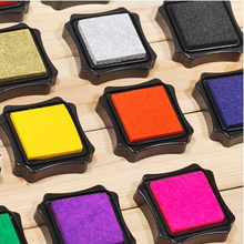 1pc 6*6cm Handmade DIY Seal Accessories Octagonal Inkpad Color Boxed
