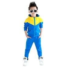 2017 Automne Automne Bébé Garçons vêtements set Sport hoodied vêtements costume 3 couleurs garçons costume de sport vêtements D'extérieur