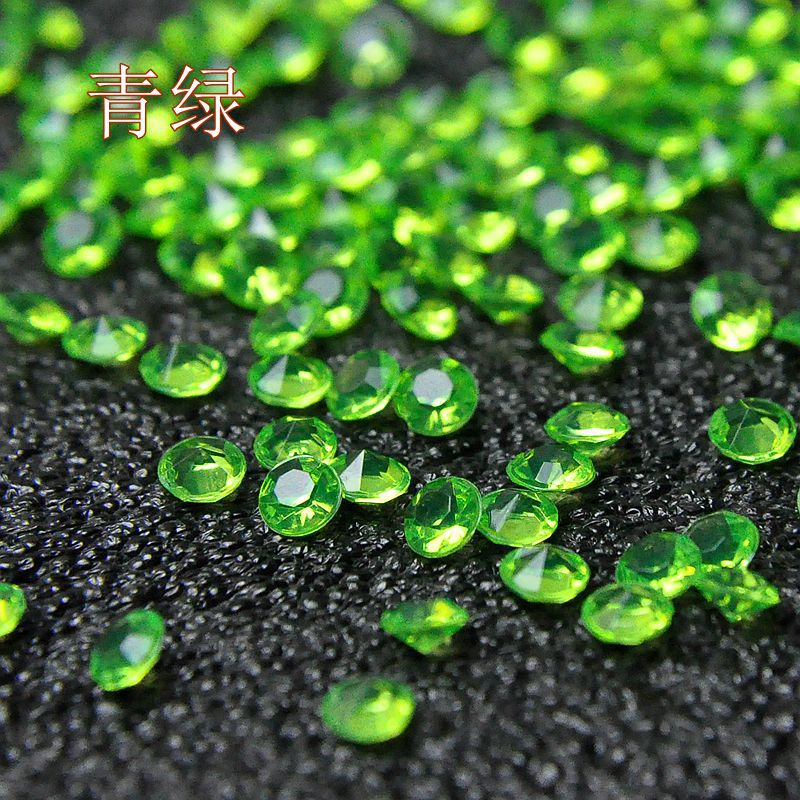 Hot sell! 2000pcs a pack 45mm Acrylic plastic tip drill / wedding or shoe garments loose diamond no plating