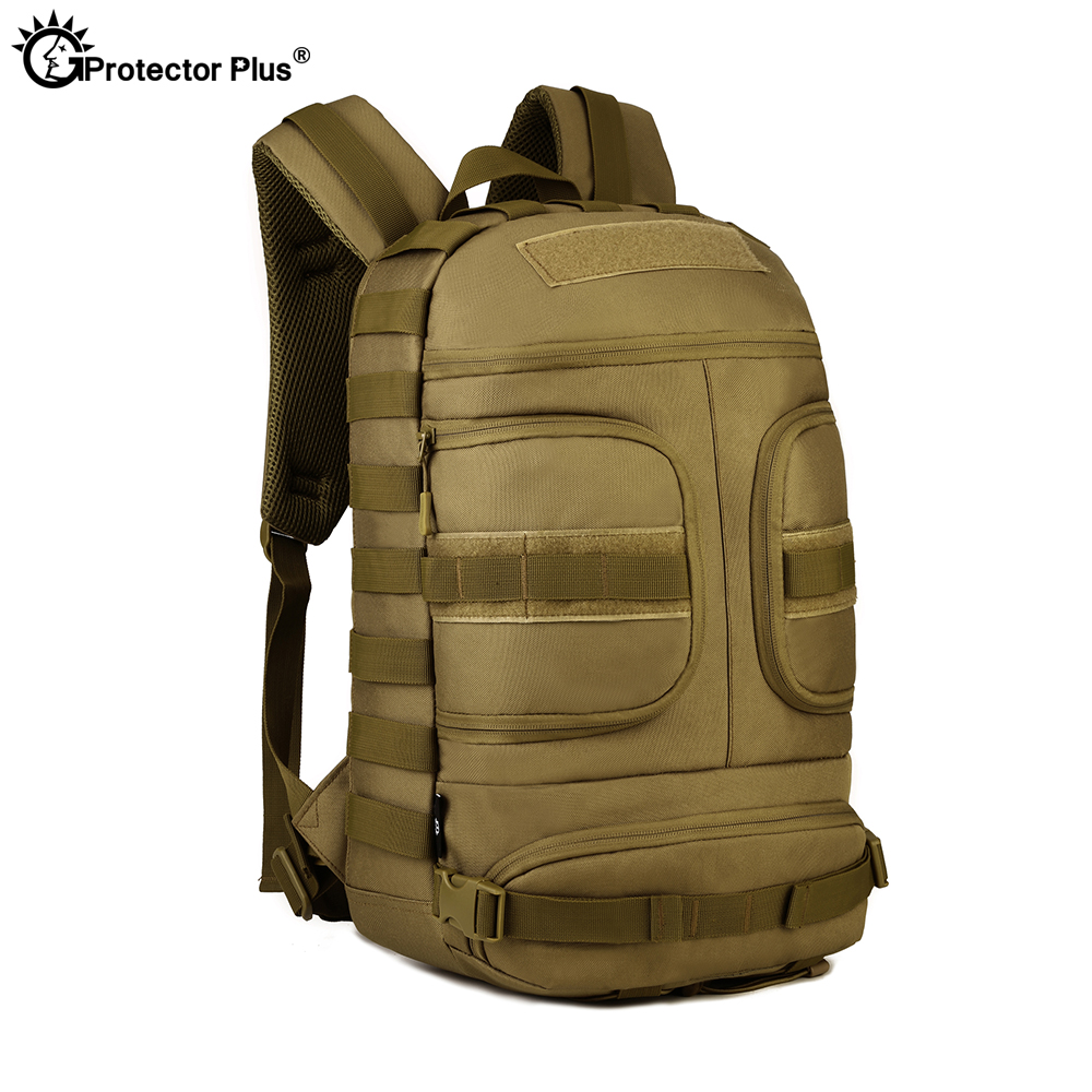 PROTECTOR PLUS Tactical Backpack Army Fans Outdoor Nylon Durable Riding Mountaineering Travel Climbing Unisex High Capacity