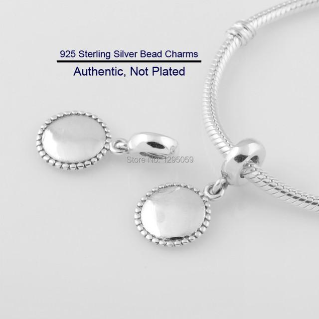 Diy serve para pandora pulseira contas engravable ícone dangle encantos 925 prata esterlina jóias da moda para as mulheres atacado lw15296