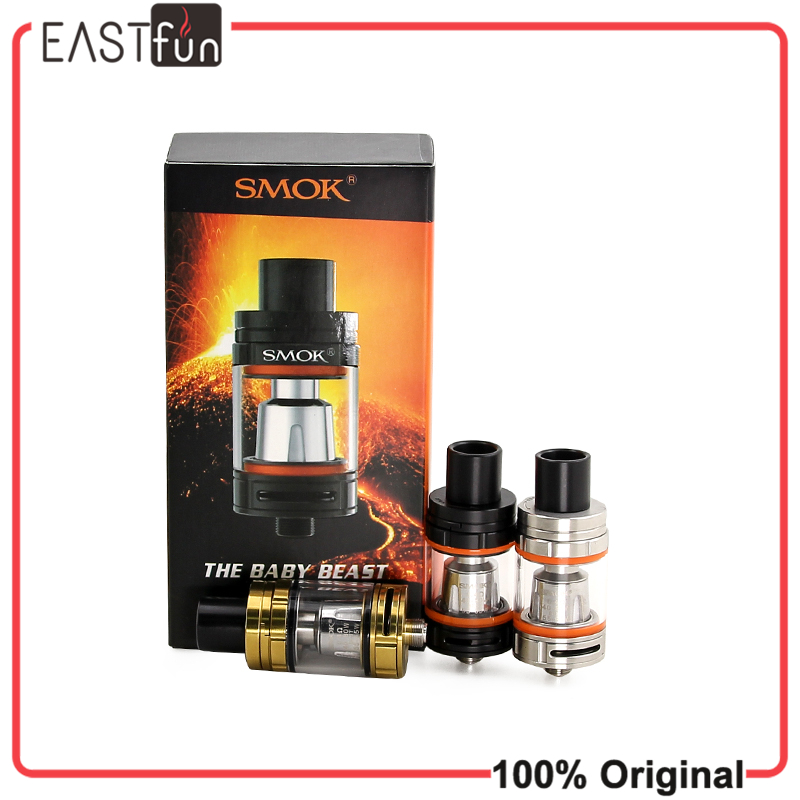 100% Original Smok TFV8 Baby Tank 3ml Top-filling Adjustable Airflow Beast Tank The Baby Beast Sub Ohm TFV8 Baby Atomizer