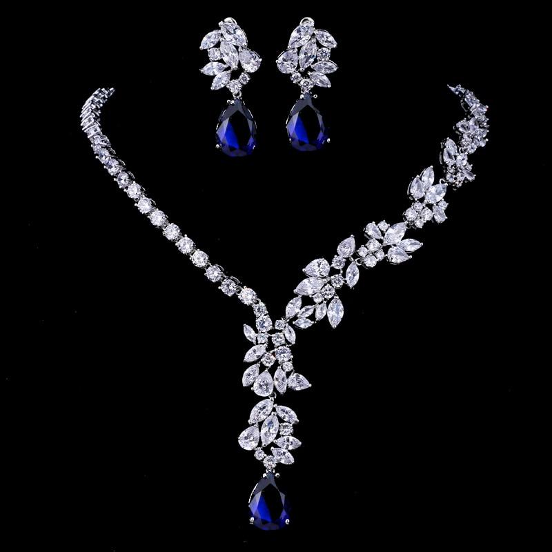 Emmaya New Unique Design Choker Necklace Stud Earrings Bridal Jewelry Sets Wedding Accessories Dropship 6