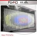 Weißen vorhang bildschirm animationsanzeigefunktion 10FT * 23FT PH18 led vorhang RGB3in1 leds hochzeit dekoration-in Bühnen-Lichteffekt aus Licht & Beleuchtung bei