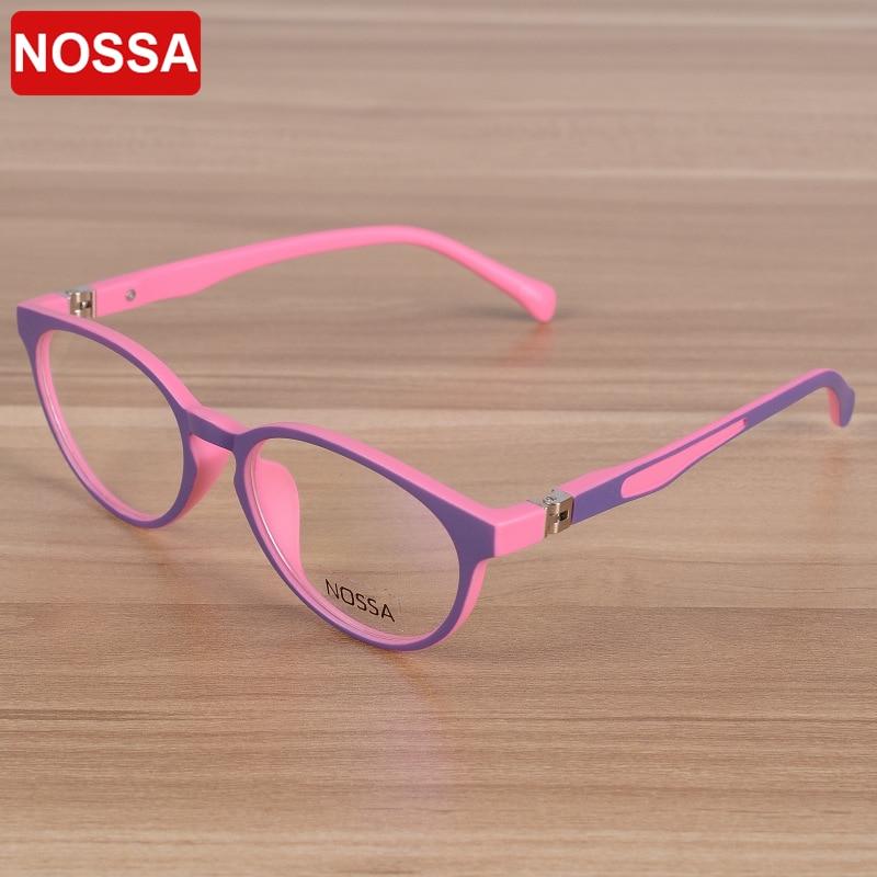 NOSSA Značka kvality TR90 Dětský optický rám Brýle Brýle Dívky Chlapci Děti Myopia Brýle Rámy Dětské Brýle