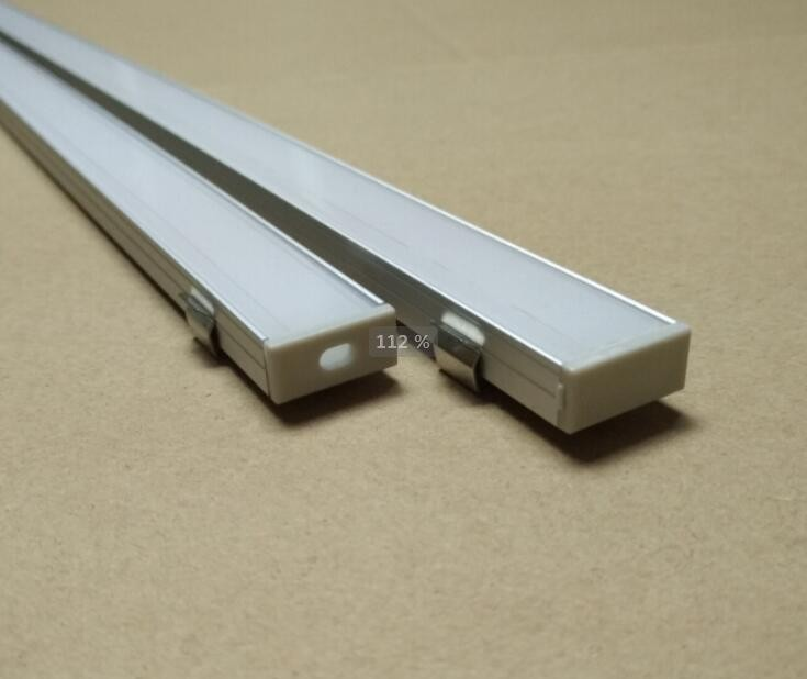 Free Shipping New Design 2000mmX18mmX8.5mm Under Counter Cabinet Light Kit Aluminium Profile For LED Strip Round Opal Profile