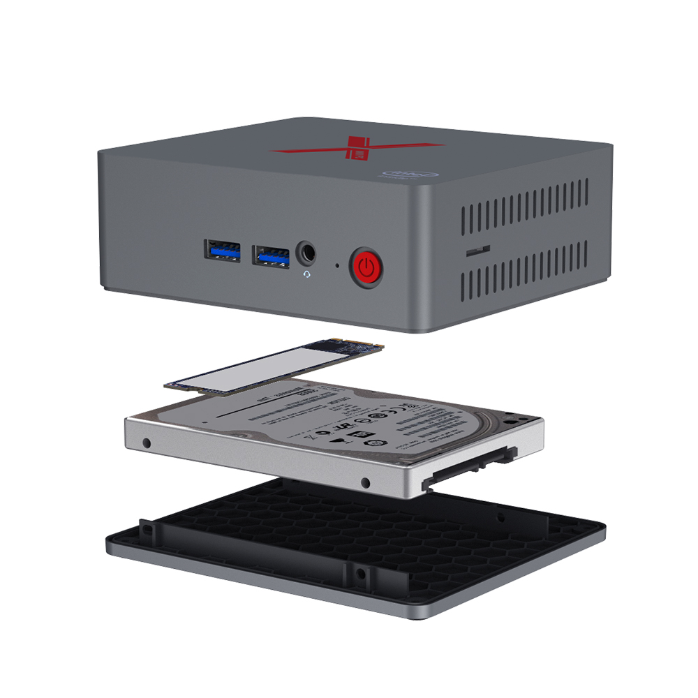 Купить с кэшбэком Beelink BT3-X J3355 windows10 Mini PC 4GB 64GB AC WiFi 1000Mbps Bluetooth 4.0 support sata HDD dual display pocket mini computer