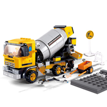 цены City Engineering Truck Excavator Forklift Creative Building Blocks Sets  Bricks Educational Toys for Children