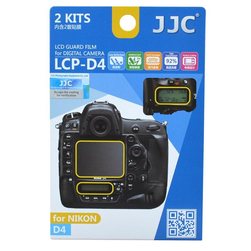 JJC 2 pcs D4 D4s LCD Garde Film Protecteur D'écran Caméra Capot De L'écran pour Nikon