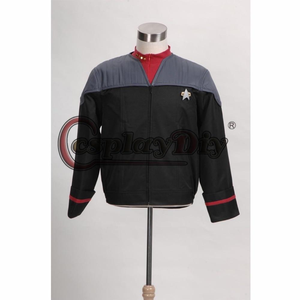 Cosplaydiy Star Trek Nemesis Voyager Captain Sisko Uniform Jacket Costume Adult Men Cosplay Costume Custom Made J5